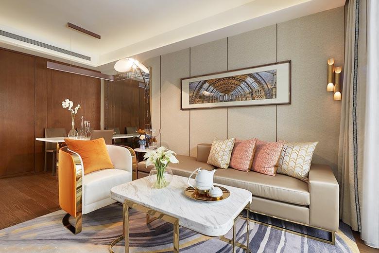 现代简约风格客厅构造图
