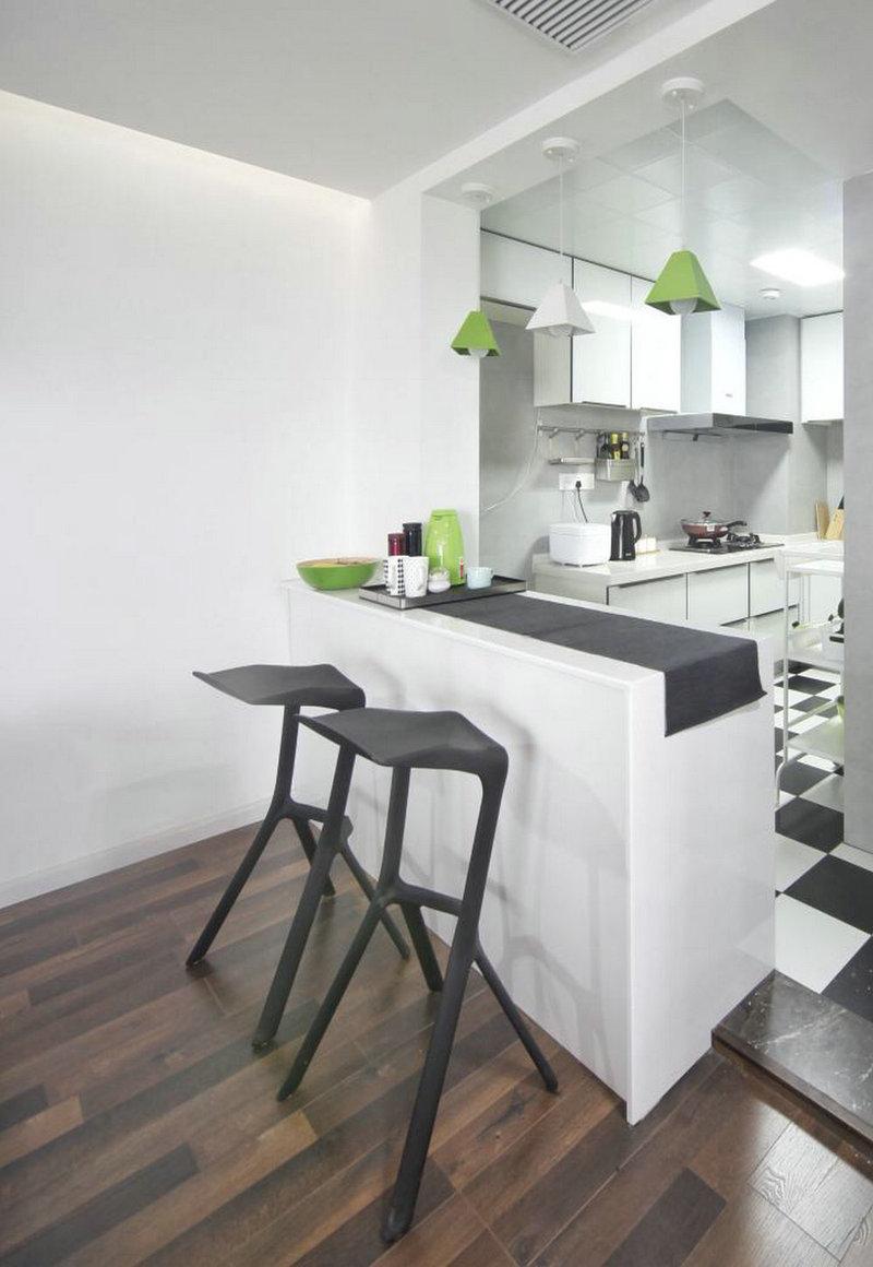 欧式二居室装修效果图,静谧小清新北欧风装修案例效果图片