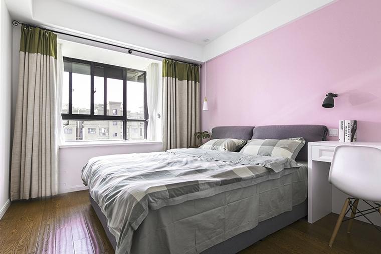 90平两居室装修卧室效果图
