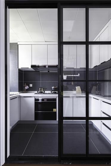 90平两居室装修厨房效果图