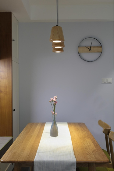 90平北欧风格两居室餐厅吊灯图片