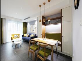 90平北欧风格两居室 简单的艺术感