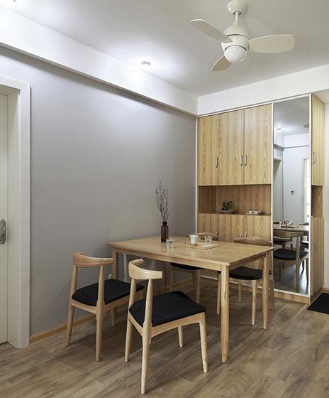 90平日式风格两居室装修餐厅效果图