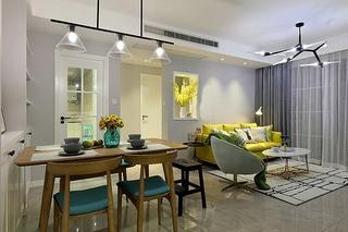 90平美式风格装修客厅效果图