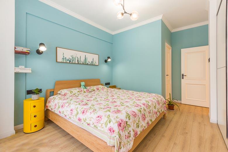北欧两居室卧室平面图