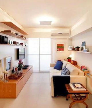 客厅电视背景墙设计实景图