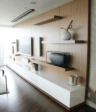 客厅电视背景墙收纳图片