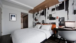 110平简约风格两居室装修卧室效果图
