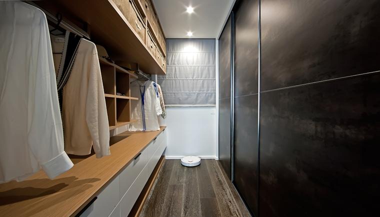 110平简约风格两居室装修衣帽间图片
