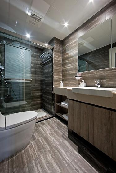 110平简约风格两居室装修卫生间图片