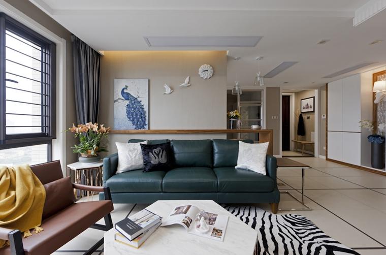 120平复式房装修客厅效果图