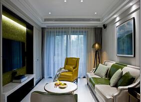 120平混搭风格装修 雅致两居室装修效果图