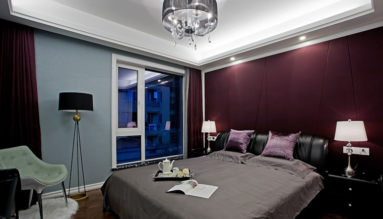 130平三居室装修样板间卧室效果图