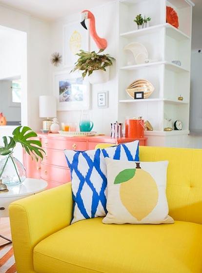 糖果色客厅装修设计欣赏图