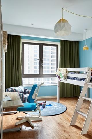 120平两居室复古装修儿童房效果图