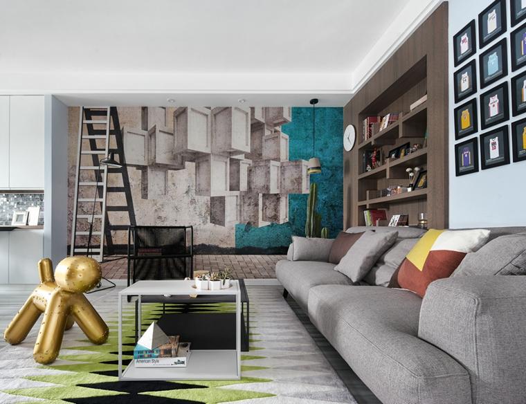 130平简约风格装修沙发图片
