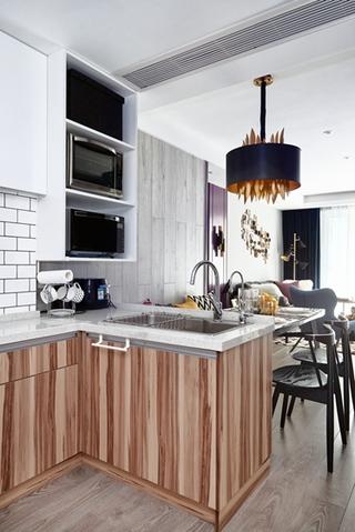 80平小户型装修开放式厨房图片