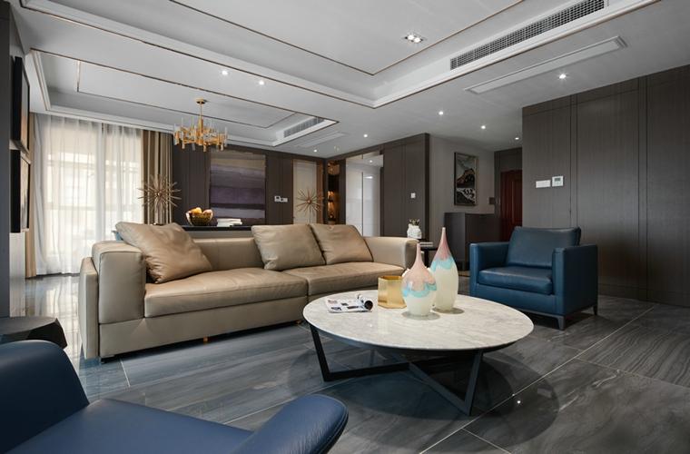 稳重系大户型装修客厅沙发图片