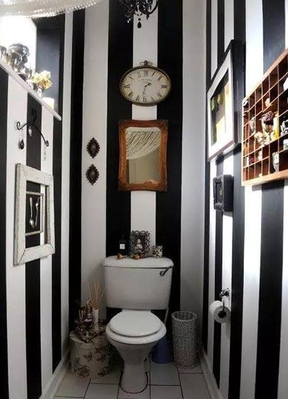 小户型卫生间背景墙参考图