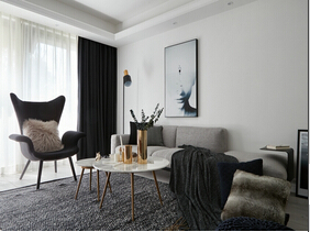 魅力北欧风格装修 10万半包三居室居室