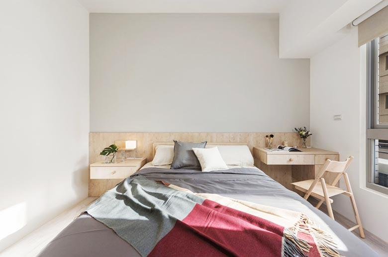 80㎡北欧风卧室背景构造图