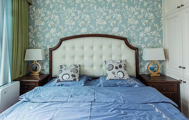 100平美式风格装修卧室效果图