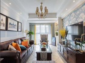 100平美式风格装修 超级温馨的家