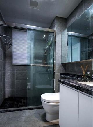 110平简约风格三居室卫生间效果图