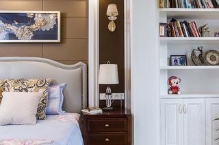 130平美式风格三居室装修卧室收纳柜
