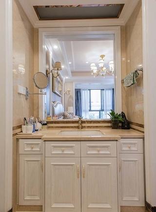 130平美式风格三居室装修洗手台