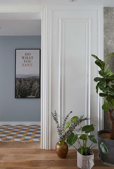 20万全包90平三居室客厅绿植