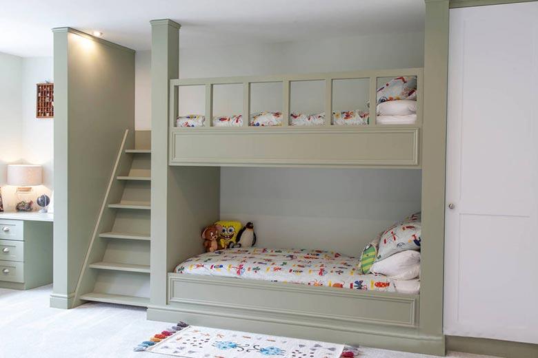 儿童房设计上下床参考图