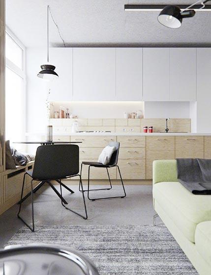 开放式厨房装修设计实景图