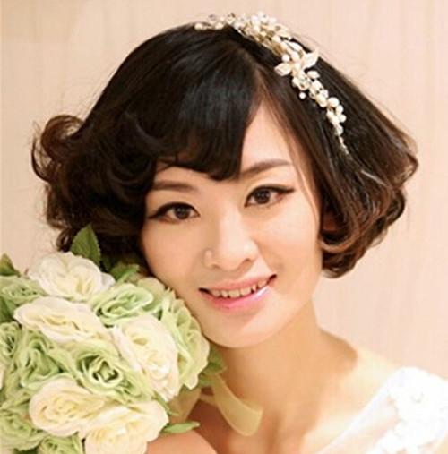 中短发新娘造型设计欣赏 百变新娘有哪些时尚装扮