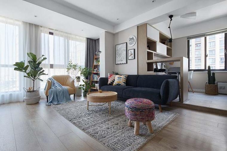 北欧风格三居室装修大客厅装潢图