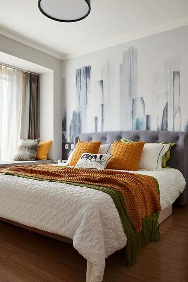 简约质感三居室装修卧室效果图