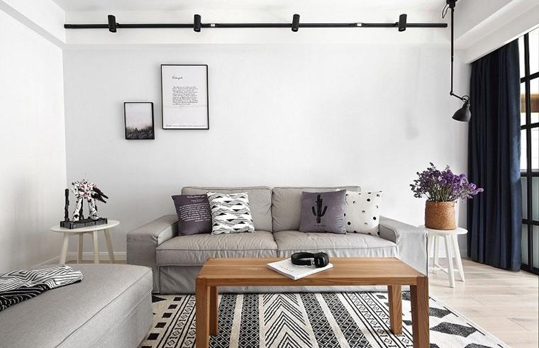 黑白调北欧风格装修地毯