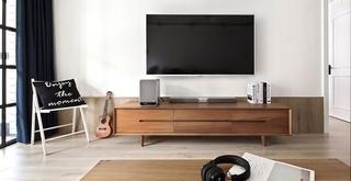 黑白调北欧风格装修电视柜图片