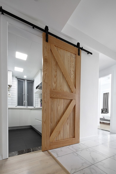 黑白调北欧风格装修厨房隔断