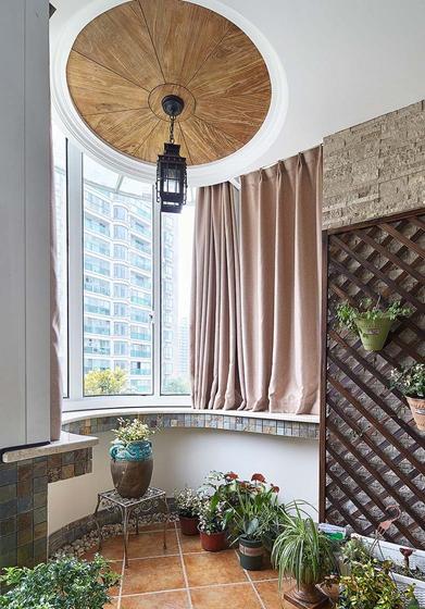 富有韵味的美式风格装修阳台效果图