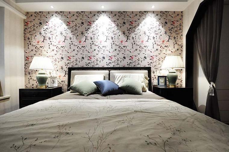 100平新中式风格装修卧室装潢图