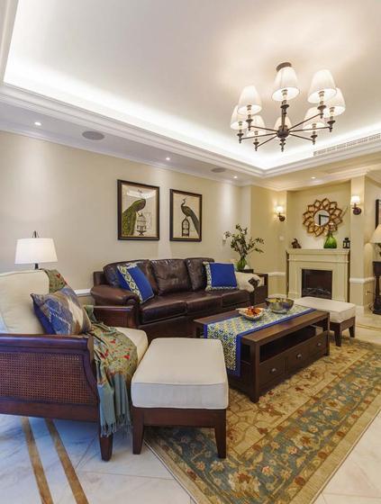 170平大户型装修客厅地毯