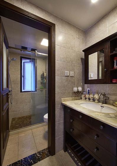 90平四居室装修卫生间效果图