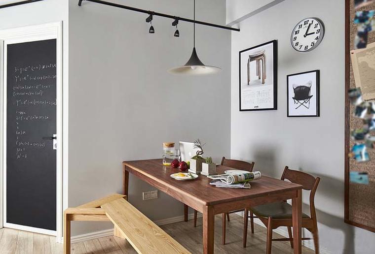 北欧风格三居室装修餐厅效果图