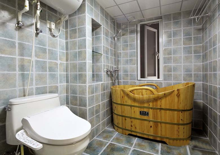 最漂亮的小复式装修卫生间效果图