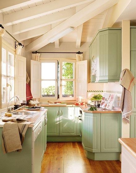 彩色厨房装修装修装饰效果图
