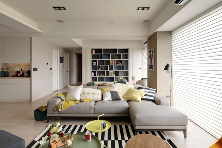 北欧风格三居室装修客厅装潢图