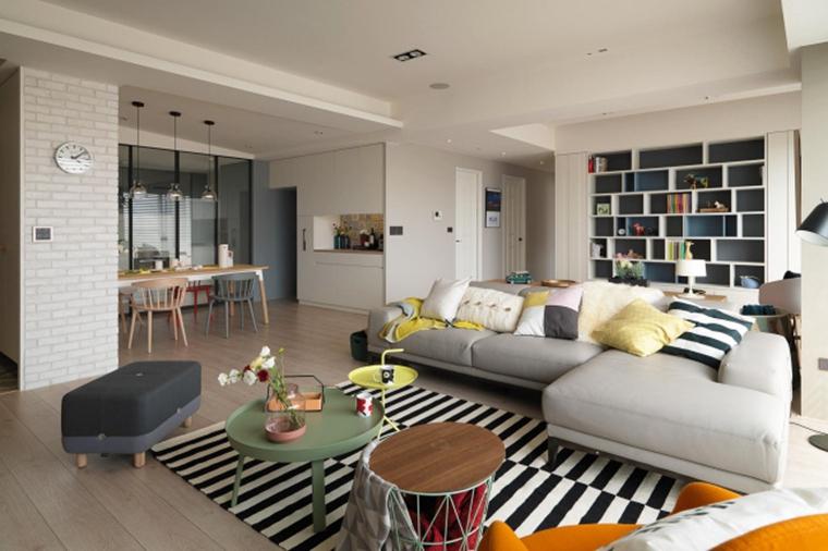 北欧风格三居室装修客厅沙发图片