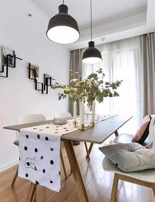 餐桌上的桌布  10款休闲餐厅装修设计图2/10