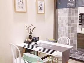 餐桌上的桌布  10款休闲餐厅装修设计图